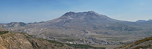 English: Panorama of Mt St. Helens