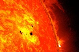 NASA's SDO Observes Fast-Growing Sunspot