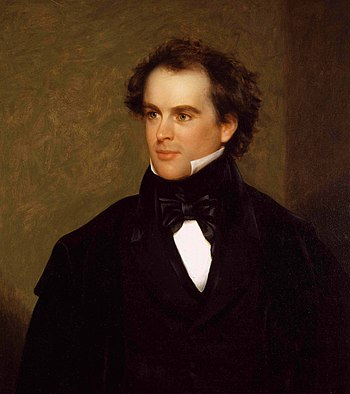 """Nathaniel Hawthorne in 1841, a """"prudent a..."""