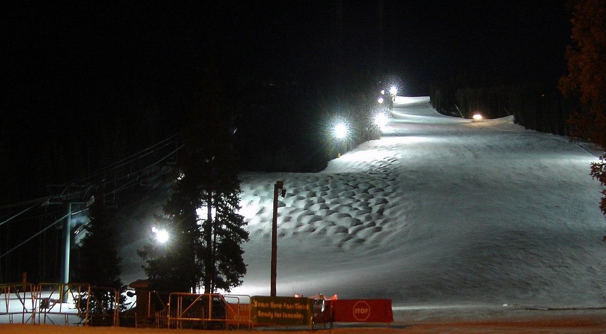 Night skiing  Wikipedia