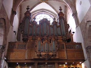Main organ of Saint Thomas Church (Strasbourg)...