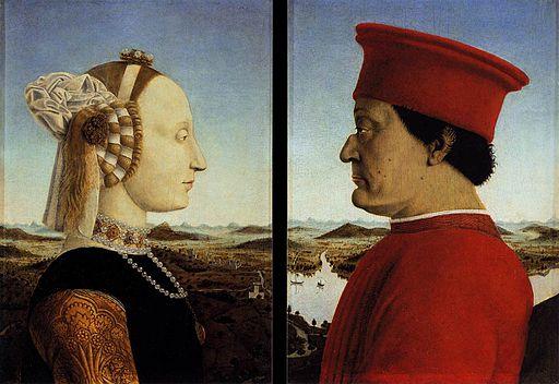 Piero, Double portrait of the Dukes of Urbino 03