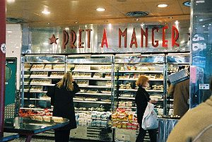 Pret A Manger, Strand, London, October 2004