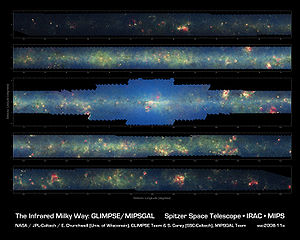 English: The Spitzer Space Telescope's broad i...