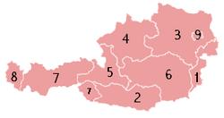 Peta pembagian administratif Austria