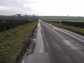 English: The road to Welton, East Riding of Yo...