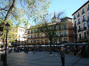 Zocodover square in Toledo, Spain.