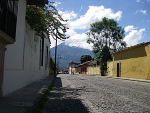 Volcano behind Antigua Guatemala