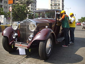 English: A vintage Rolls-Royce, a favourite of...
