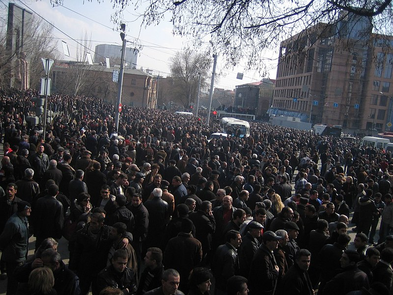 File:Armenian Presidential Elections 2008 Protest Day 11 - French Embassy Demonstration 230pm general view.jpg