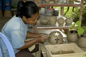 Cambodian potter