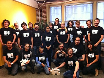 English: WMF Tech Staff Group Photo - honoring...