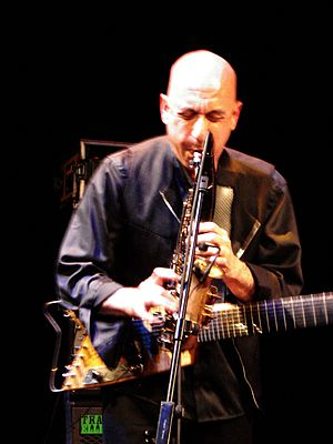English: Elliott Sharp live at Saalfelden 2009...