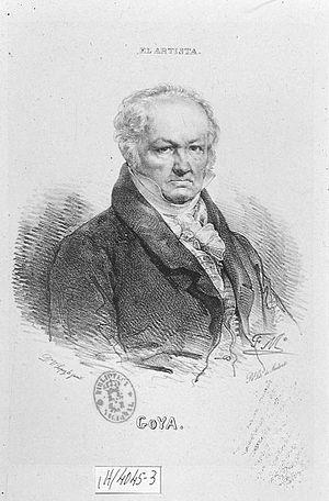 Español: Retrato de Francisco de Goya y Lucien...