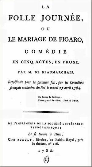 Résumé - Le Mariage de Figaro - Beaumarchais