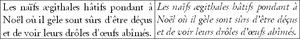 Exemple de texte en italique cursive