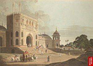 A painting of Pilibhit Jama Masjid in 1780 found in British Liberary