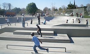 Pedlow Field Skate Park, Victory Blvd., San Fe...