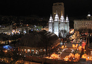English: Temple Square in Salt Lake City, Utah...