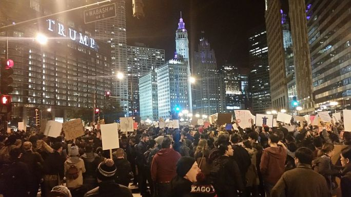 Trump Protest Chicago 3