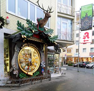 The world's biggest cuckoo clock in Burgstraße...
