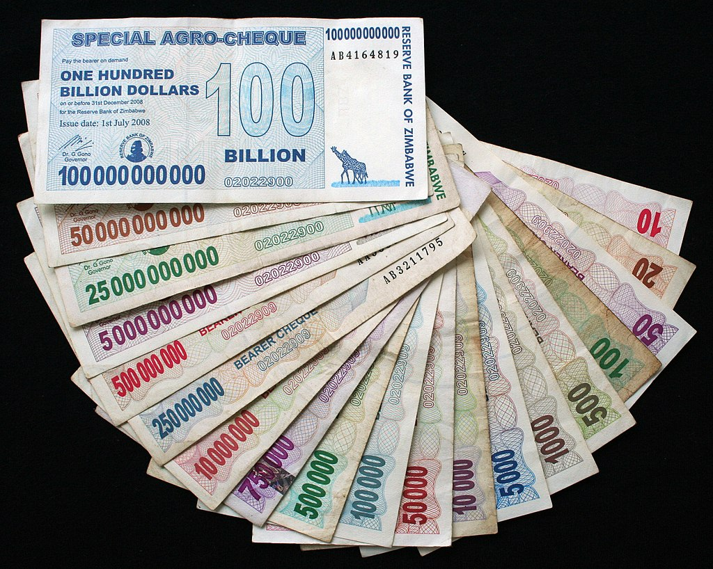 what are the currencies of zimbabwe called