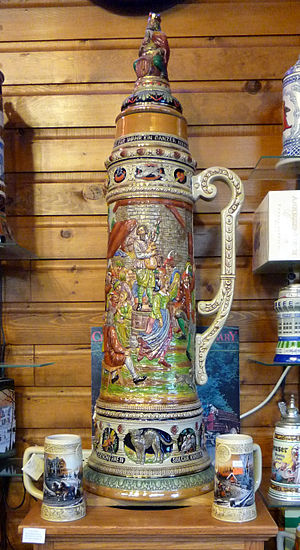 Gigantic beer stein. According to its display,...