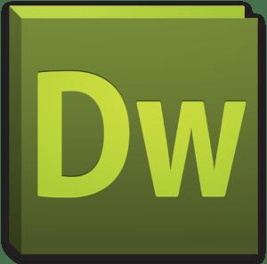 English: Application icon for Adobe Dreamweave...