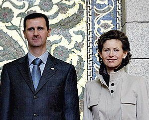 Bashar and Asma al-Assad, President and first-...