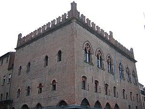 Palazzo dei notai in Piazza Maggiore a Bologna...
