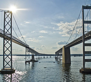 English: The Chesapeake Bay Bridge between Ann...