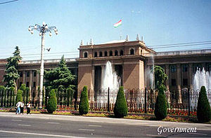 Dushanbe government building.