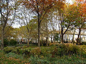 New York City's East River Park in Manhattan's...