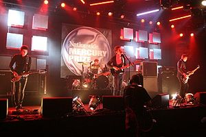 editors performing at mercury prize show