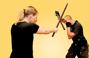 English: Stick fighting is one of the most fam...