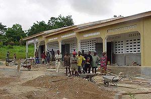 English: Guéckédou school, Guinea