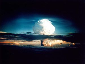 Nuclear weapon test Mike (yield 10.4 Mt) on En...