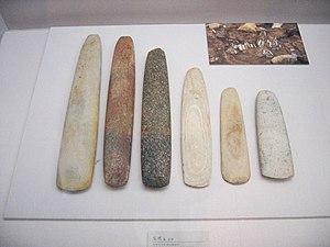 Neolithic axes found in Korea.