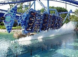 English: Roller Coaster, Manta at Sea World in...
