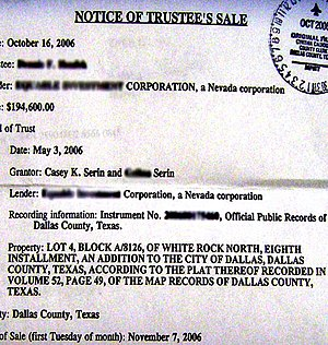 Notice of Trustee's Sale, Foreclosure, Mortgag...