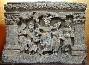 The virgin birth of Siddhārtha from the hip of...
