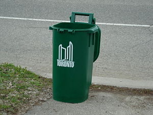 A Green Bin in Toronto, used for the municipal...