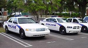 English: University of Florida Police Cruisers...