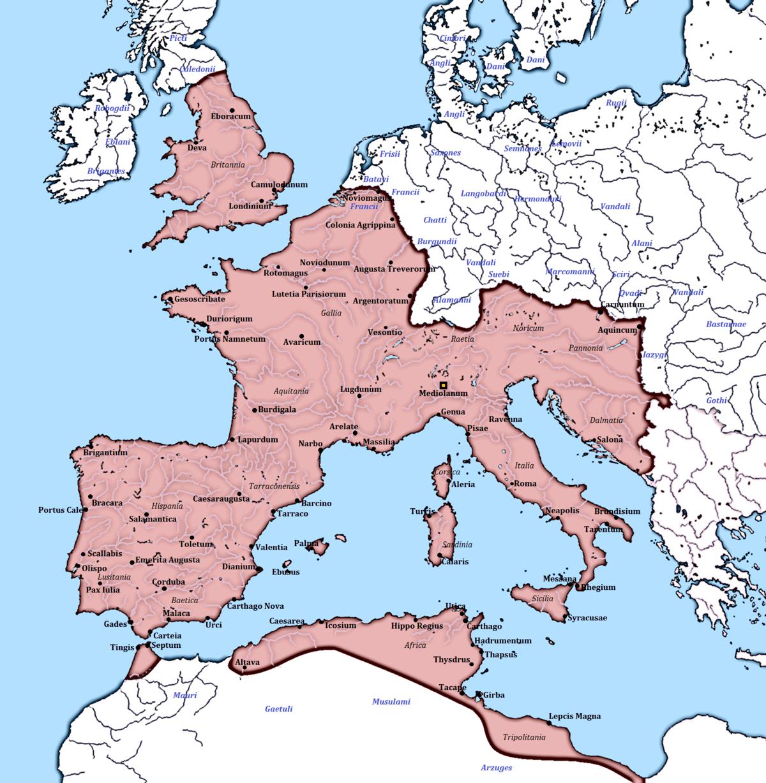 Blank Map Spanish Countries