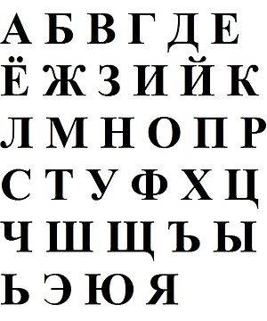 English: Russian alphabet