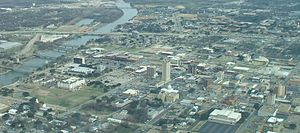 English: Aerial view of Downtown Waco, Texas, ...