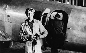 American aviator/pilot Amelia Earhart (1897-19...