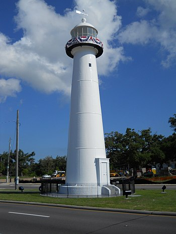 English: Biloxi lighthouse, June 2010, Biloxi,...
