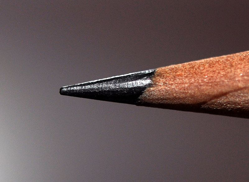 Closeup of pencil graphite