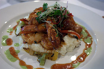 Shrimp & grits, Commander's Palace restaurant,...